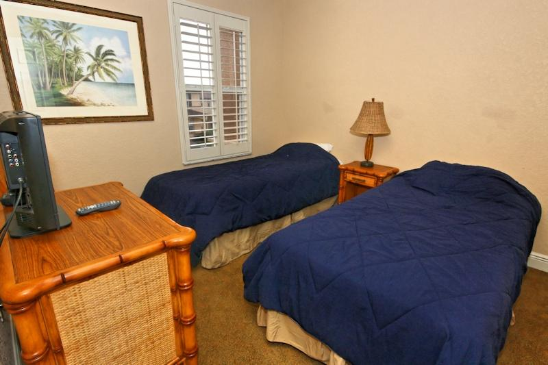 Quinn Villa - Twin Bedroom with TV and Cable