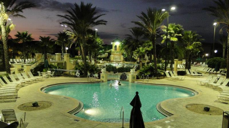 Stunning Regal Palms by night