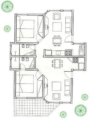 plan duplex apartment for up to 10 people