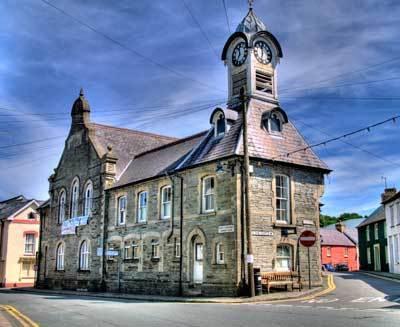 Clocktower in Newcastle Emlyn.
