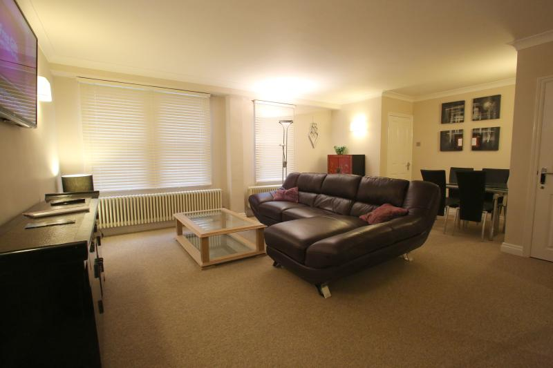 Spacious stylish lounge with TV, free wi-fi and bluetooth