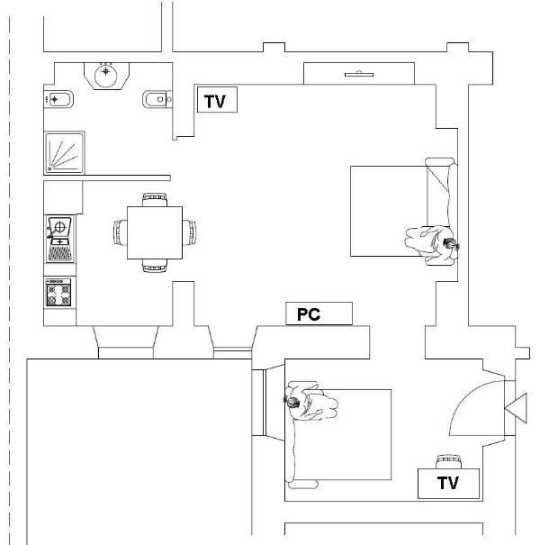 mappa del apartament