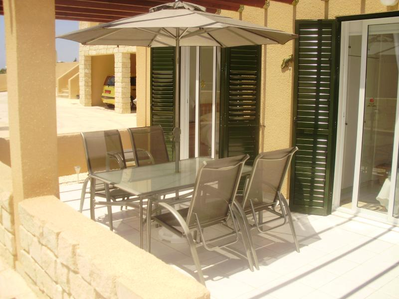 terrace area - can be accessed from both bedrooms as well as the lounge