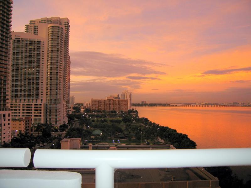 Mooie MIAMI, uitzicht vanaf balkon