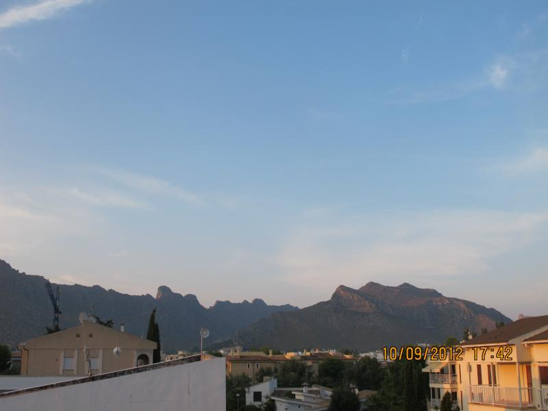 View to town and mountains beoyond