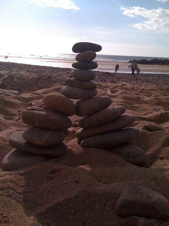 Crooklets Beach - Home made art!