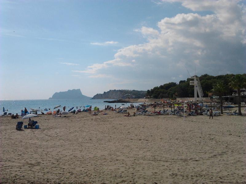 Moraira main beach in October 2011