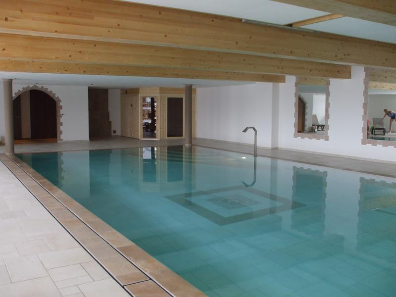 Beautiful indoor pool and sauna
