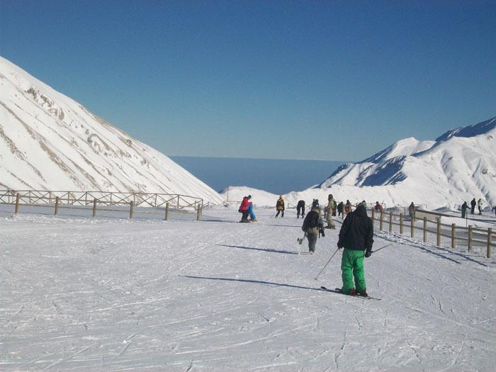 Skiing at Campo Imperatore