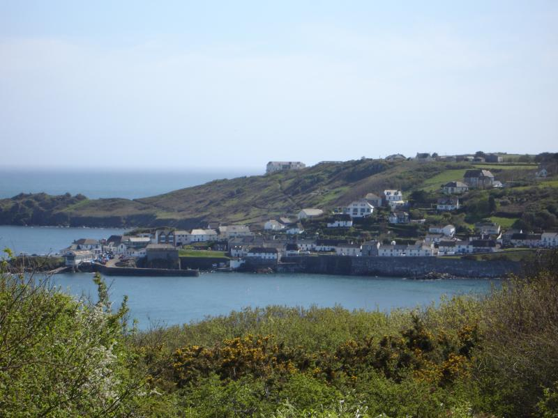 Coverack from the costal path, a lovely walk that goes right past the front door.
