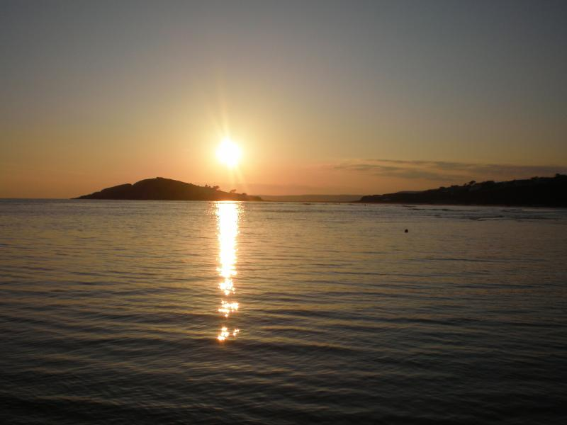 Stunning Sunsets over Burgh Island can be enjoyed from The Downs
