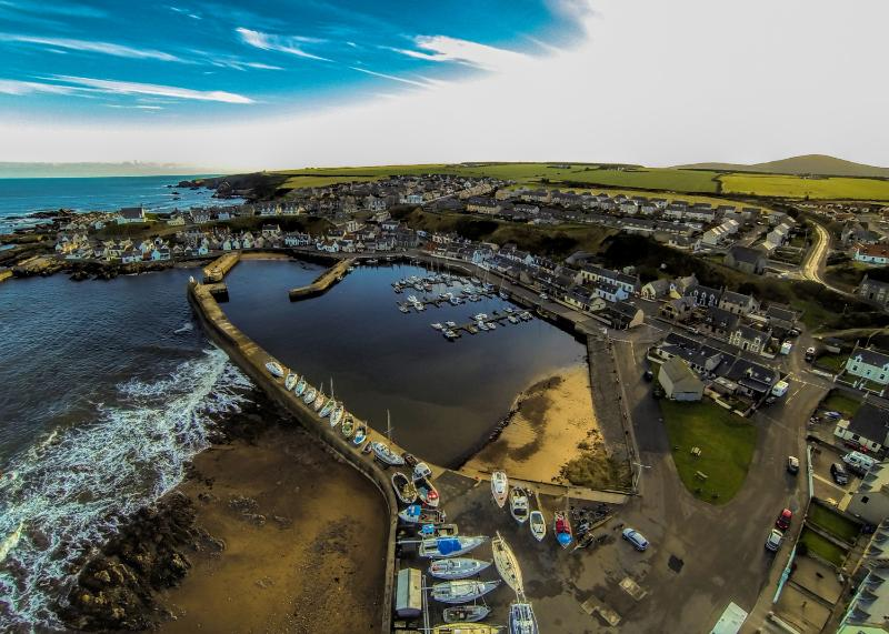 Aerial view of Findochty  ©Paul Brown Photography