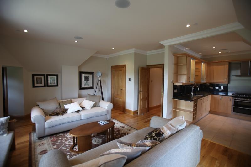 Open plan living & kitchen area