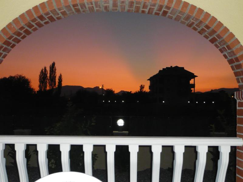 Evening view from terrace