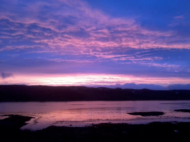 Guest photo of sunset skies from Skye Croft