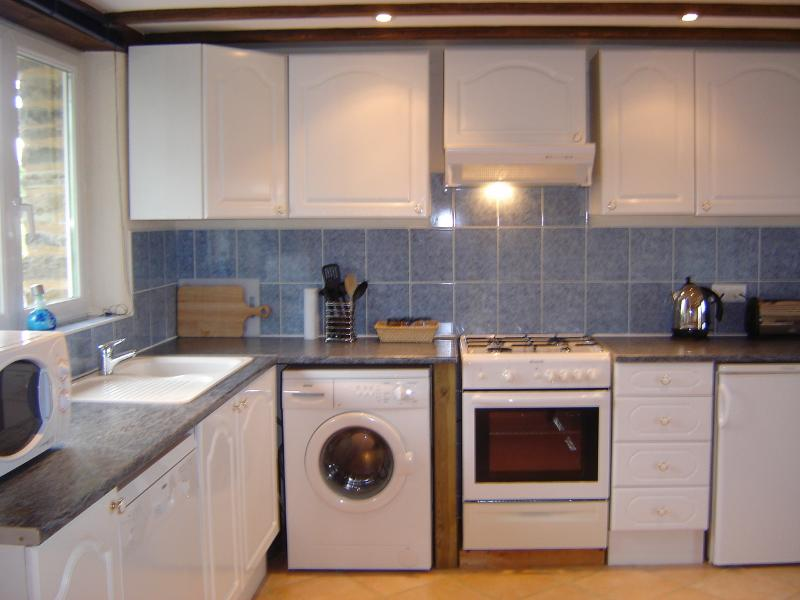 The Stables open plan ground floor - kitchen area