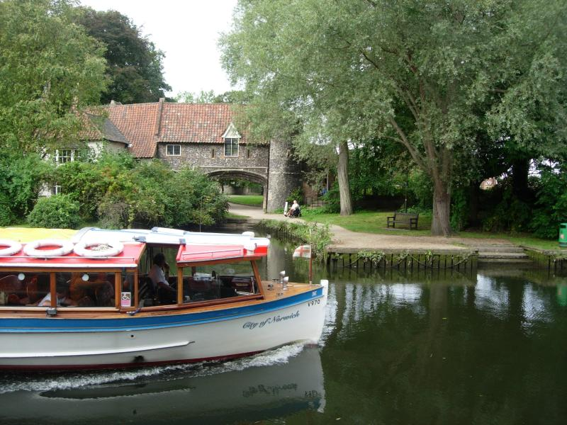 The many scenic walks along rivers and the Norfolk Broads