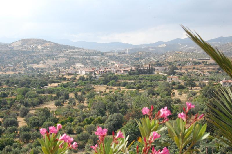 Gemstone Village nestling in the hills among the olive groves