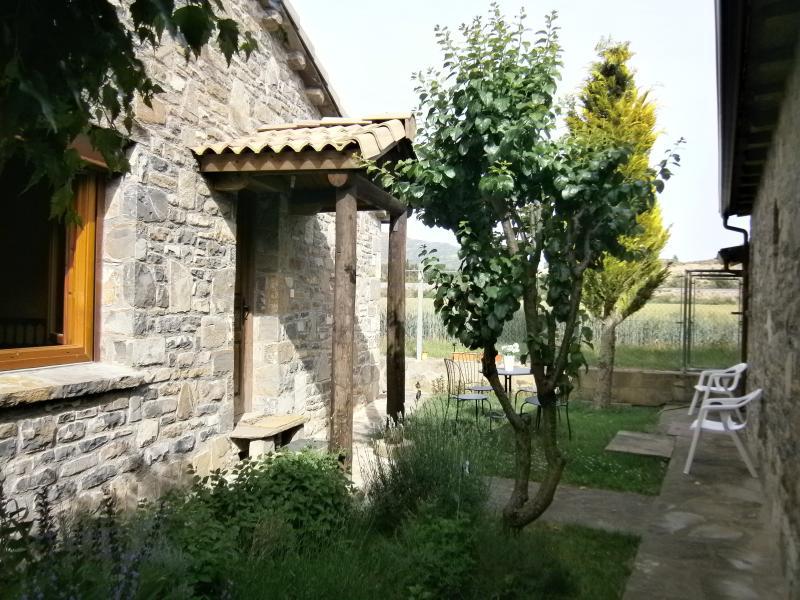 Garten und aromatische Ecke