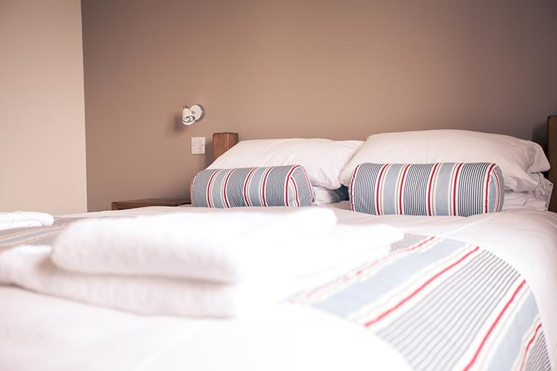 King Size, chunky wooden beds, sleep easy!