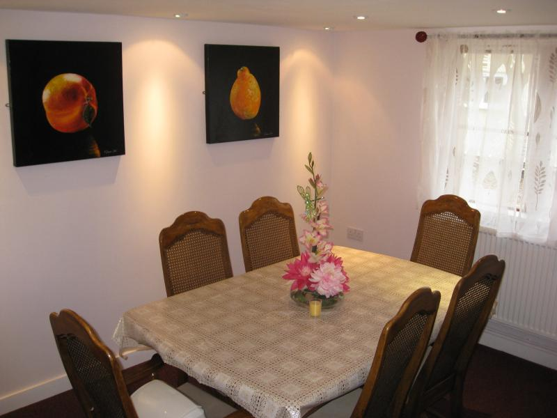 Dining area of kitchen