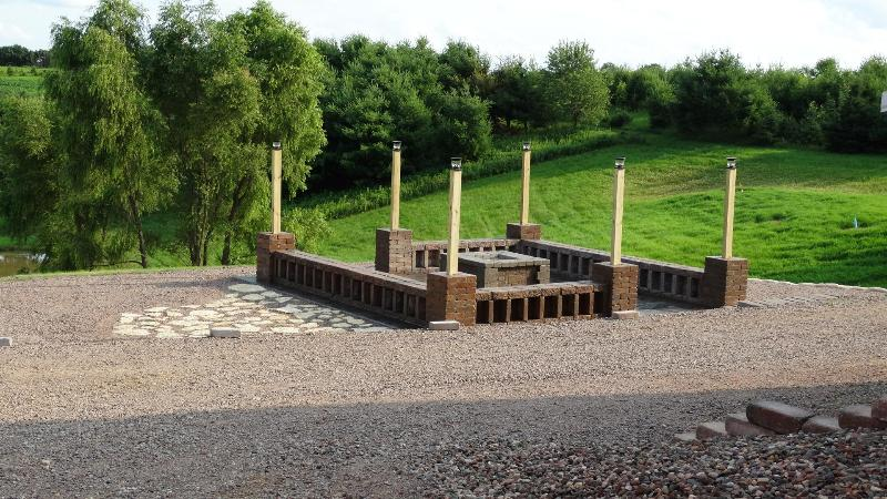 MVW provides the wood for the outdoor fireplace