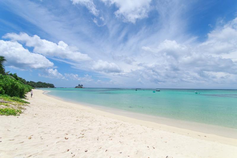 Breathtaking beach at Anse Royale