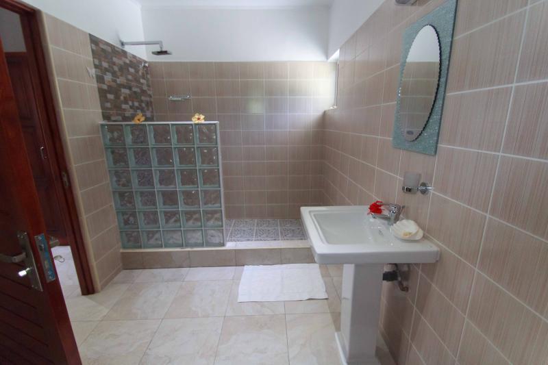 Coco Blanche Garden View Villa - spacious bathroom and shower