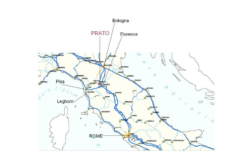 The railway system just near Prato