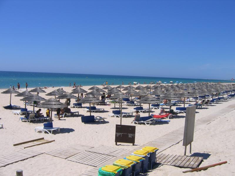 Sun umbrellas at the beach in Cabanas