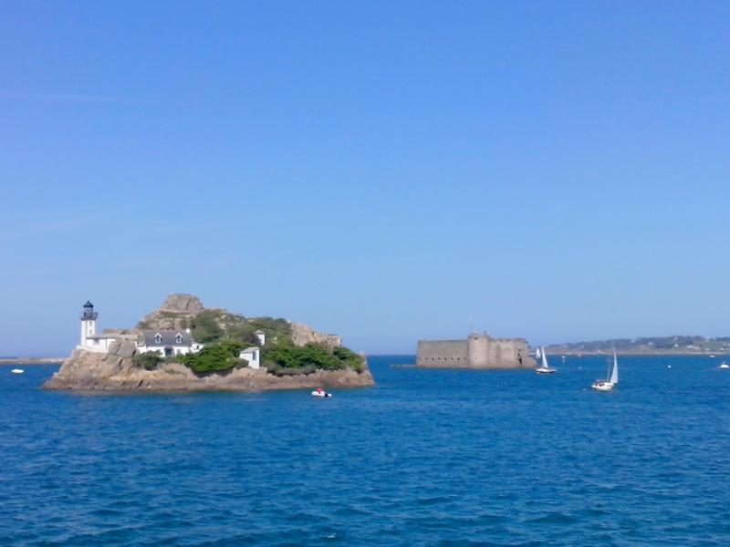 baie de Morlaix-île Louet et château du Taureau