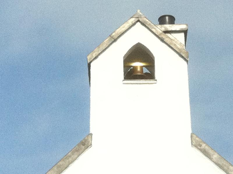 Our brand new bell tower (better than a flue!!)
