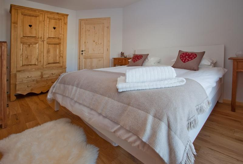 Bedroom 3, spacious with authentic Swiss furniture