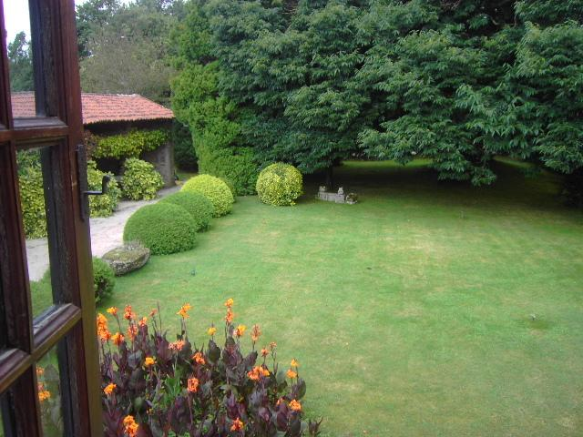 view of the back garden from one of the bedrooms