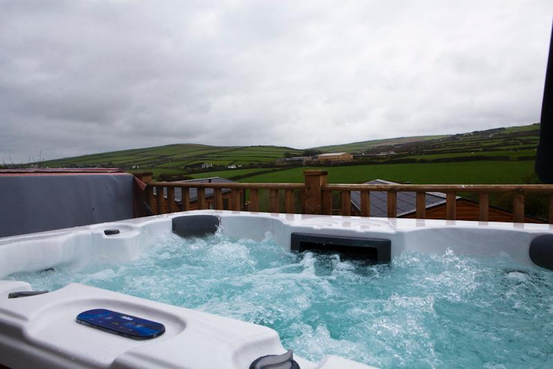 View from Hot Tub looking towards Boscastle