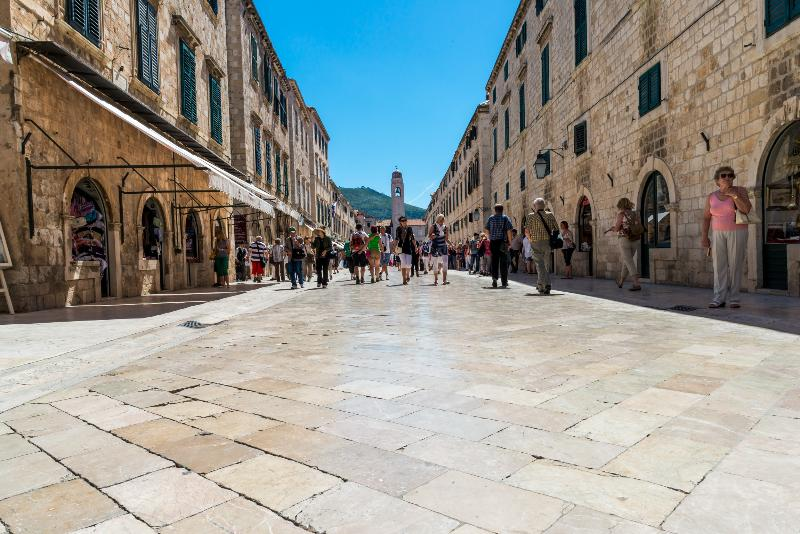 famous Main Street in the Old City (Stradun)