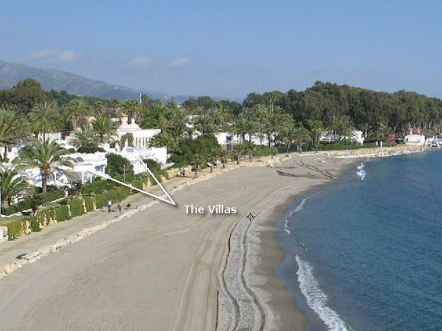 Ariel view of both villas ON THE BEACH