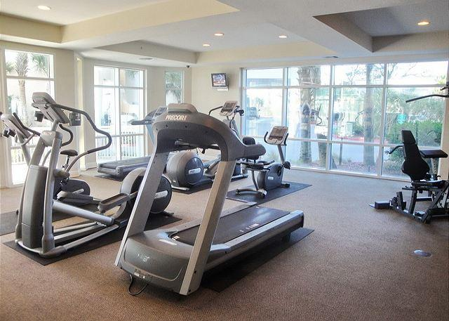Fitness center beschikbaar voor gasten