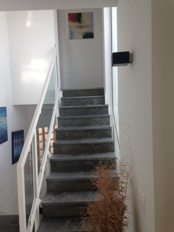 Stairs to top floor
