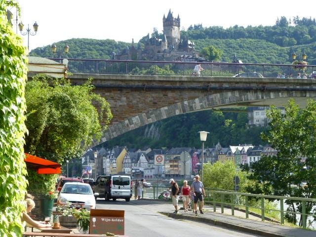 Cochem Castle, view from the other side of the river