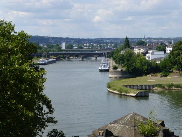 Deutsches Eck, Koblenz, The headland in Koblenz where the Moselle joins the Rhine.