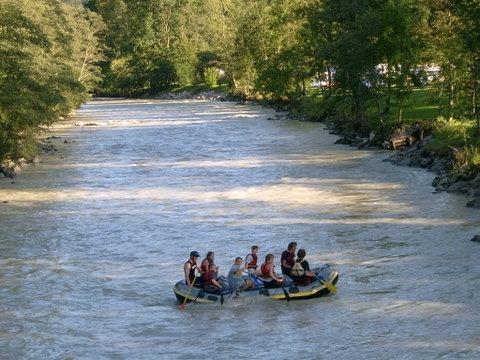 Rafting on the Saalach
