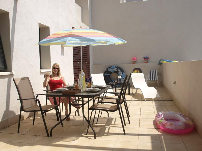 Front terrace a place to relax & sunbathe overlooking the golf course and magnificent views