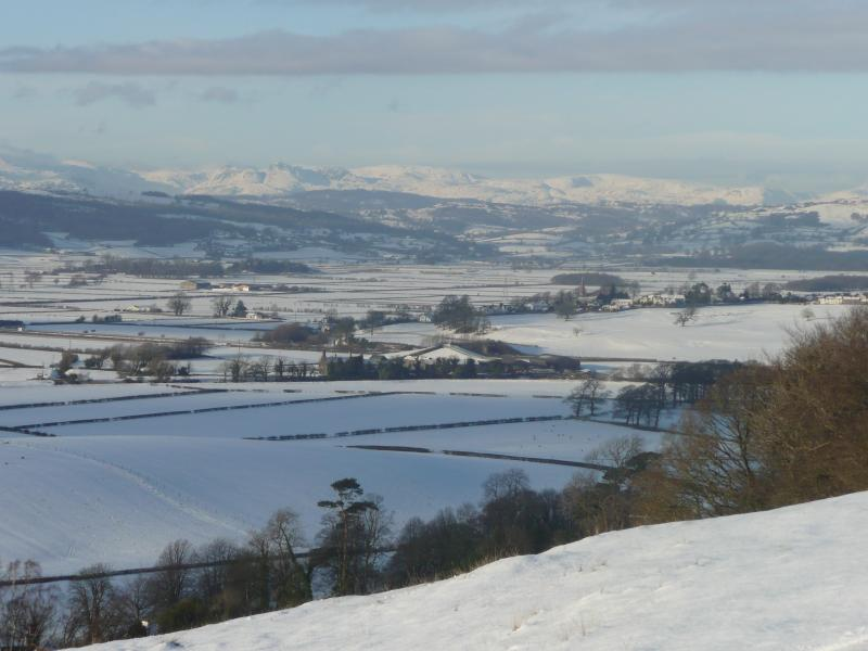 View from Heversham Head in the snow