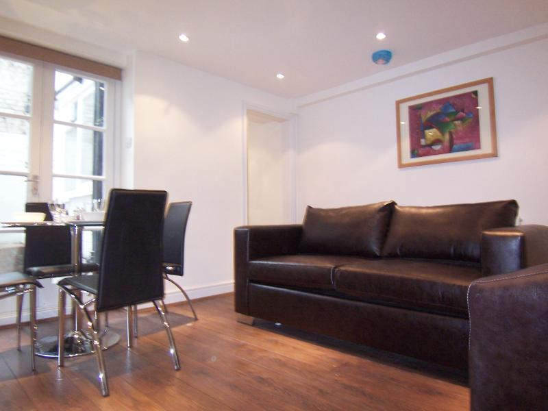 Bright Reception with double sofabed for guests