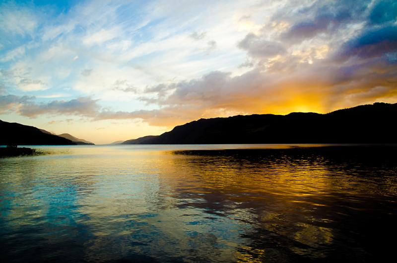 Gorgeous sunrise over Loch Ness