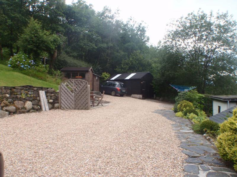 Area at rear of cottage for parking cars