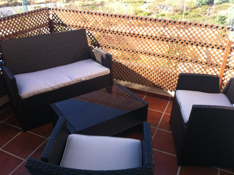 Small terrace that is accessible from bedrooms two and three