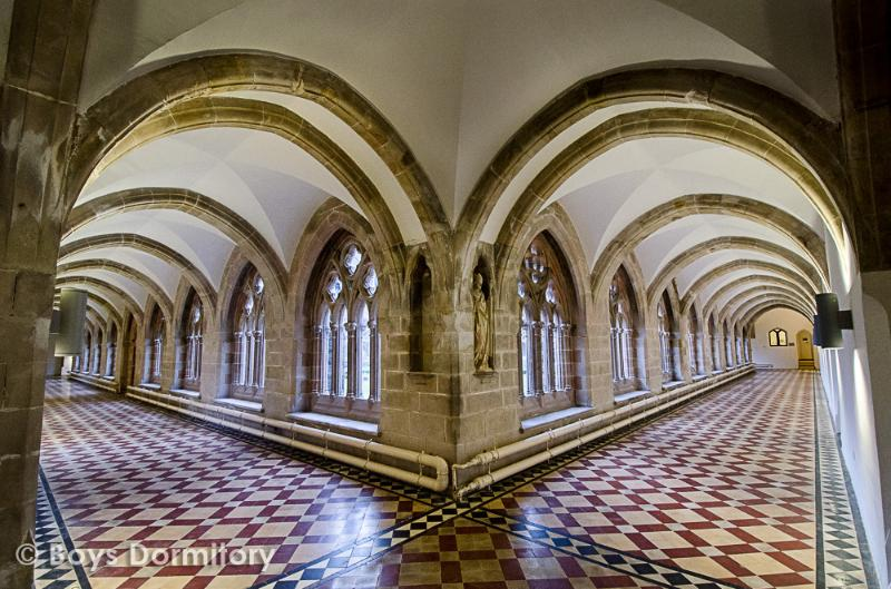The abbey cloisters