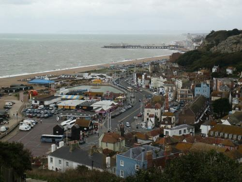 View of Hastings seafront from East Hill